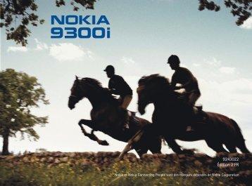 Nokia 9300i - Nokia 9300i mode d'emploi