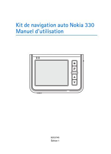 Nokia 330 Auto Navigation - 330 Auto Navigation Guide dutilisation