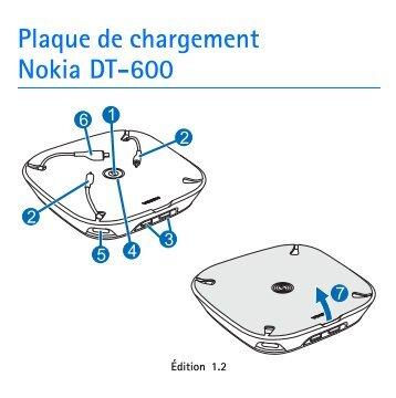 Nokia Plaque de chargement DT-600 - Plaque de chargement Nokia DT-600 Guide dutilisation
