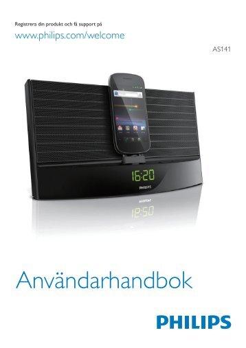 Philips Station d'accueil avec Bluetooth® - Mode d'emploi - SWE