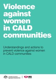 Violence against women in CALD communities