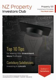 NZ Property Investors Club, Edition 1 Canterbury