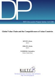 Global Value Chain and the Competitiveness of Asian Countries