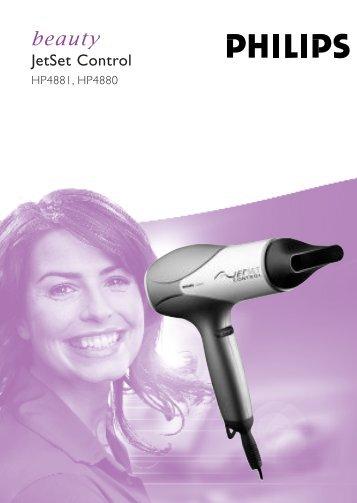 Philips Sèche-cheveux - Mode d'emploi - THA