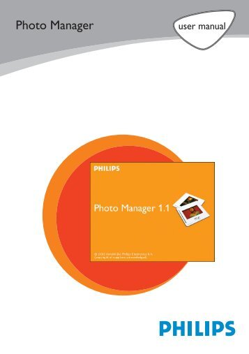 Philips Appareil photo numérique - PC Logiciel Manuel - ENG