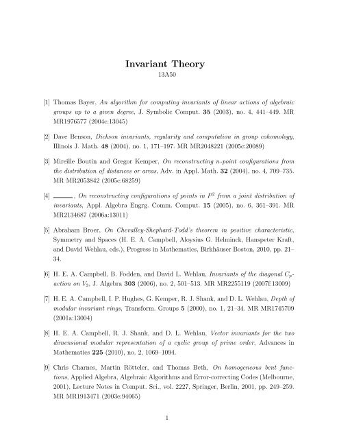Computational Invariant Theory