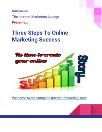 Three steps to make money online
