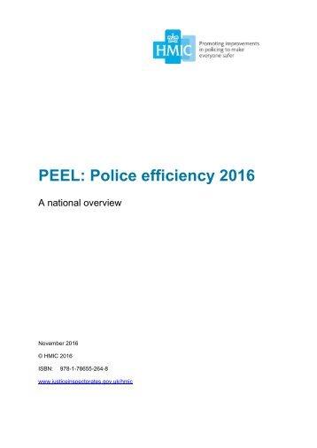 PEEL Police efficiency 2016