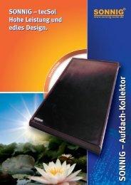 tecSol Hohe Leistung und edles Design. SONNIG - Sonnig-Solar.de ...