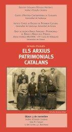 ELS ARXIUS PATRIMONIALS CATALANS