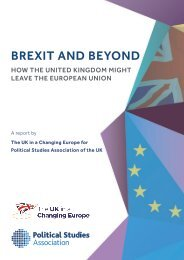 BREXIT AND BEYOND