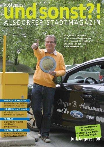 Urlaub in Geranien - Alsdorfer Stadtmagazin