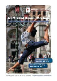 2012 Program - Society for the Neural Control of Movement