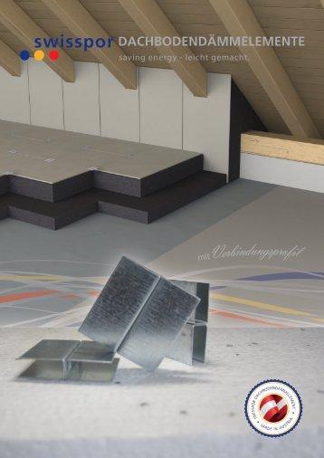 Dachbodendaemmelemente mit Verbindungsprofil