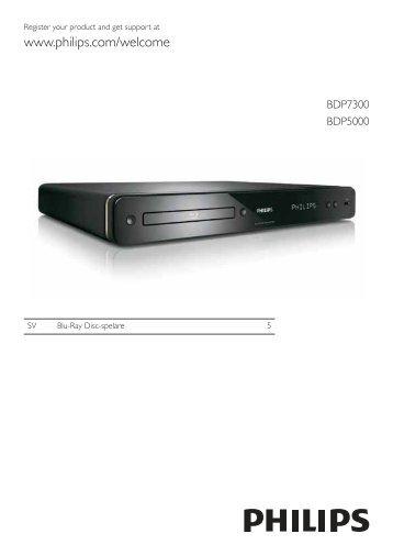 Philips Lecteur de disques Blu-ray - Mode d'emploi - SWE