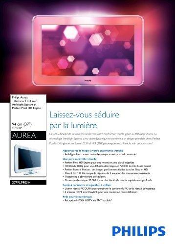Philips Aurea TV LCD - Fiche Produit - FRA