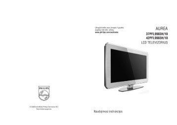 Philips Aurea TV LCD - Mode d'emploi - LIT