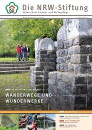 WANDERWEGE UND WUNDERWERkE - NRW-Stiftung