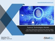 Forensic technologies market - Porter's five forces model is used to provide an insight