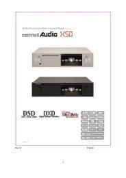 CocktailAudio X50 User Manual English Ver. 1.0