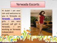 Yerwada Independent Escorts are glamour