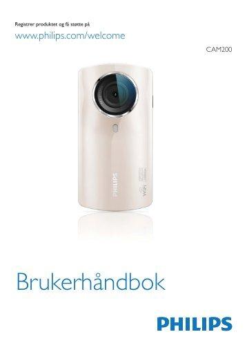Philips Caméra HD - Mode d'emploi - NOR