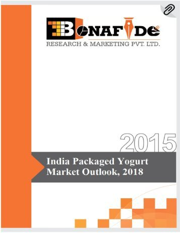 Sample-India Packaged Yogurt Market Outlook, 2018