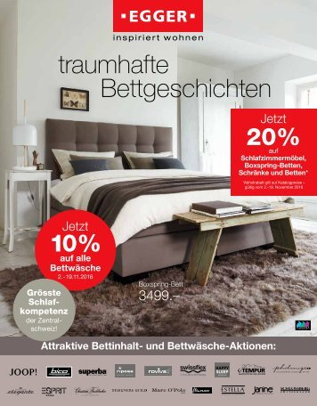 Prospekt Schlafzimmer | November 2016