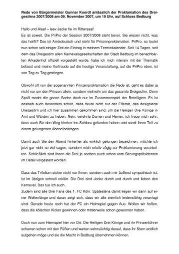 Prinzenproklamation 2007 - Gunnar Koerdt
