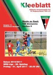 TSV Alemannia Aachen II - FC Wegberg-Beeck 1920 e.V.