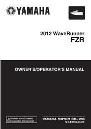 Yamaha FZR - 2012 - Manuale d'Istruzioni English