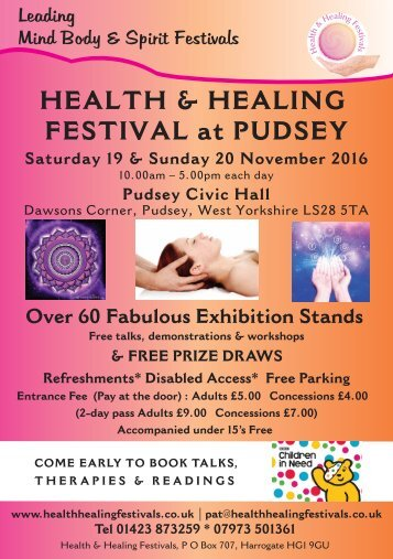 HEALTH & HEALING FESTIVAL at PUDSEY