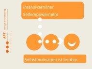 Intensivseminar Selfempowerment - Selbstmotivation ist lernbar