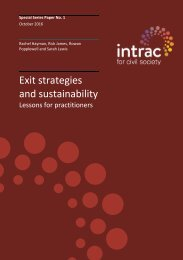 Exit strategies and sustainability