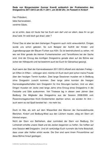 Prinzenproklamation 2011 - Gunnar Koerdt