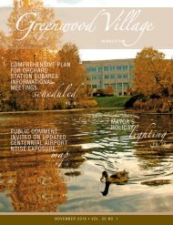 Greenwood Village Newsletter November