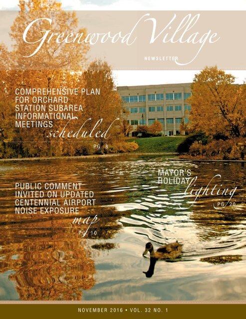 Greenwood Village Newsletter November