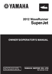 Yamaha Superjet - 2012 - Manuale d'Istruzioni English