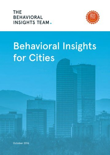Behavioral Insights for Cities