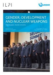 GENDER DEVELOPMENT AND NUCLEAR WEAPONS