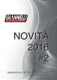 nuovi prodotti - Novembre 2016