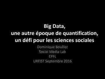 une autre époque de quantification un défi pour les sciences sociales