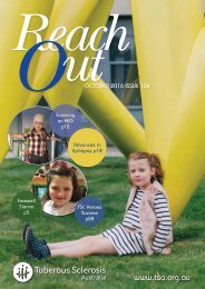 Tuberous Sclerosis Australia Reach Out Magazine October 2016