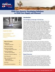 Child Care Deserts Developing Solutions to Child Care Supply and Demand