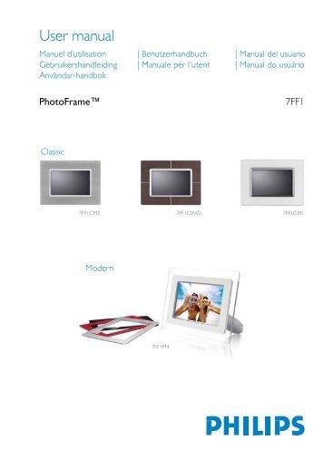 Philips PhotoFrame - Mode d'emploi - FIN