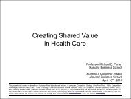 Creating Shared Value in Health Care