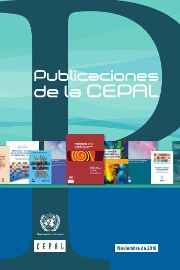 Catálogo semestral de publicaciones de la CEPAL 2016