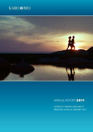 Corporate Governance Report - Karo Bio