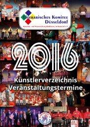 Künstlerverzeichnis 2016/17