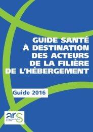 GUIDE SANTÉ À DESTINATION DES ACTEURS DE LA FILIÈRE DE L'HÉBERGEMENT